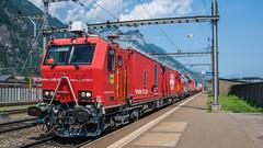 SBB Xtmas 177 006 Fire Train Erstfeld 16 July 2015 (3) (BaggieWeave) Tags: switzerland swiss swissrailways swisstrains erstfeld gotthardrailway gotthard gotthardbahn sbb cff ffs firetrain