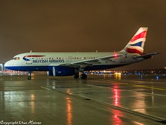 British Airways G-EUPE HAJ at Night (U. Heinze) Tags: aircraft airlines airways airplane planespotting plane night nightshot flugzeug haj hannoverlangenhagenairporthaj eddv olympus 12100mm
