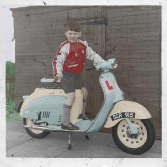 Me on scooter 1962
