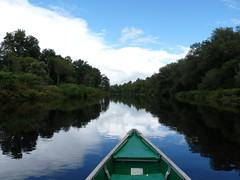 Grasse River (jmunt) Tags: landscape river canoe reflection