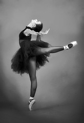 ... (bojanstanulov) Tags: ballerina balet beautiful balletdancer ballet balletshoes balletclass bw black girl studio pointe dance dancer