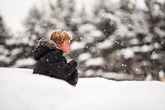 First day of Spring (Elizabeth Sallee Bauer) Tags: 9yearold feburary nature wisconsin active blondhair boy child childhood children cold deepsnow family happiness kid kids outdoors outside portrait snow snowstorm weather winter youth