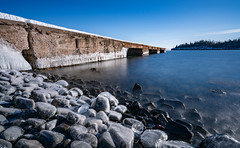Hovland Dock - Minnesota's North Shore in Winter (Tony Webster) Tags: bigstopper chicagobay filter hovland hovlanddock lakesuperior leefilters minnesota ndfilter tonywebster dock frozen ice lake neutraldensity snow winter