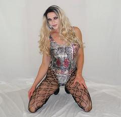 New video is online! link in description below (queen.catch) Tags: dragqueen youtuber youtubevideo pattern pantyhose sissy transvestite crossdresser bathingsuit wig feminization
