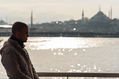 Ferry silhouette, Istanbul (sdhaddow) Tags: istanbul turkey urban street people