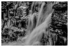 """Winter Waterfall"" (Beangrau12) Tags: dogwood2019 week3 inspirationblackandwhite icicles waterfall flow blackandwhite landscape winterlandscape tamron16300mm nikon3200"