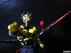 Savage Opress & Darth Maul (THE AMAZING KIKEMAN) Tags: action figures scifi star wars clone villains siths lightsaber savage opress darth maul hasbro