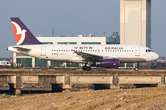 AIR MACAU A319-132 B-MAK 002 (A.S. Kevin N.V.M.M. Chung) Tags: aviation aircraft aeroplane airport airlines airbus a319 airmacau macauinternationalairport mfm taxiway