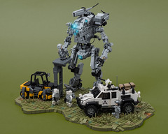 """IMC Rising (from """"Titanfall"""") (steponabrick) Tags: imc rising titanfall stryder titan gremlin forklift respawn ea game videogame lego afol moc"""