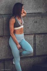 Fitness girl.... (Dave Pearce (London)) Tags: girl fitness workout posing outdoor london female
