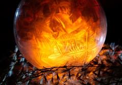 Warmth of Winter (Don Komarechka) Tags: winter macro frozen freezing soap bubble ice fractal glowing backlit lumix lumixs1 s1 nature orange