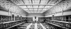 State Library of NSW [Explored] (Martin Snicer Photography) Tags: statelibraryofnewsouthwales statelibraryofnsw library australia books bnw bw blackandwhite monochrome architecture interior building wideangle 70d canon dslr perspective