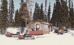 Labrador - 1986-04-01 (MacClure) Tags: canada newfoundland labrador family snowmobile skidoo sled cabin