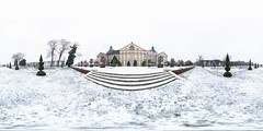 Schloss Hundisburg - 2019 (360 x 180) (diwan) Tags: germany deutschland sachsenanhalt saxonyanhalt place hundisburg schlosshundisburg schloss palace park architecture barock broque schnee snow roundabout equirectangular spivpano 360° circularpatternrectified panoramix panorama stitch ptgui dxo nikcollection plugins viveza2 fisheye canonef15mmf28fisheye canoneos5dmarkiv canon eos 2019 geotagged geo:lon=11401328 geo:lat=52249209