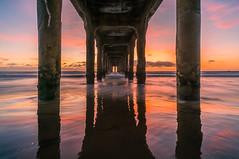 Manhattan Beach Pier Sunset (meeyak) Tags: manhattanbeach pier la losangeles california sunset ocean beach reflection mikemarshall sony a7r2 zeiss batis 18mm landscape seascape