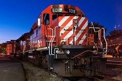 Blue Hour SD40-2 (Erie Limited) Tags: cp canadianpacific cprail emd gmd sd402 cp6018 burlingtonvt vtr vermontrailway train railfan railroad