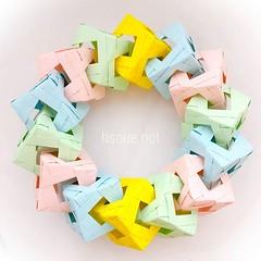 ✨Modular Cube Ring✨ (harukasouen99) Tags: modularorigami unitorigami origami handmade diy papercraft paperfold paperart paperfun papiroflexia foldingpaper paperfolding arteenpapel papirodobradura おりがみ 折り紙 折紙