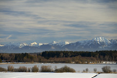 Lake Eschenau with Chiemgau Alps (Alexander Kraus) Tags: see lake l 70200 ef canon snow winter landscape bavaria sunny schnee landschaft bayern frost