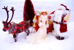 Father Christmas #8 (Bridget_John316) Tags: winter ride barbie mackie father christmas santa claus reindeer sled presents narnia
