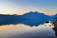 Glacier national park Sunset reflections (kirsten.eide) Tags: mountains hiking outdoors nikon landscapes glaciernationalpark nature reflections sunset
