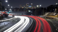 Minneapolis (selo0901) Tags: minneapolis minnesota light trails wooddale avenue south highway 7 overpass