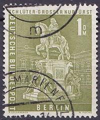Deutsche Briefmarken (micky the pixel) Tags: briefmarke stamp ephemera deutschland bundespost berlin dauermarken berlinerstadtbilder denkmal monument reiterstandbild friedrichwilhelmvonbrandenburg marktgraf kurfürst