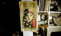 we the people / are greater than fear (bluebird87) Tags: newspaper woman dx0 c41 epson v800 lightroom kodak ektar nikon f5