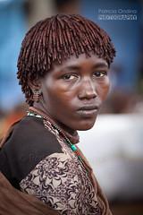Hamar Woman - femme Hammar (Patricia Ondina) Tags: portrait tradition ethiopie etiopia ethiopia äthiopien africa african eastafrica afriquedelest valléedelomo omovalley omo omoriver rivièreomo africanrift riftafricain peuplesdelomo omopeople ethnologie ethnology ethnic ethnie tribu tribe tribal etiopien etiopija etiopía etiyopya etiópia parure adornment