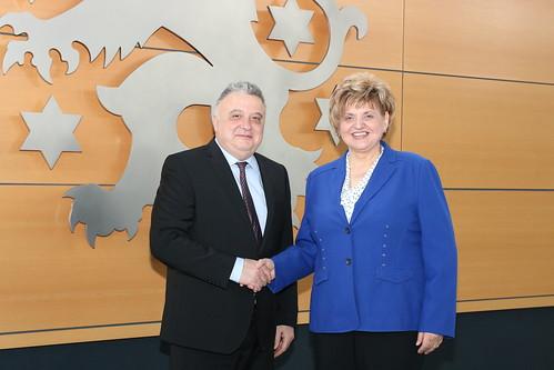 Präsidentin empfängt Botschafter Israel