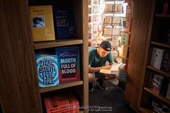 Melbourne Australia (Qicong Lin(Kenta)) Tags: melbourne australia bookshop man reading book afternoon indoor interior people portrait australian streetphotography d5 victoria nikon