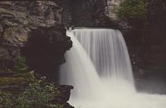 Waterfall (tevans9129) Tags: montana glaciernationalpark waterfall nikon f4 film