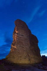Moab Monolith (TWK2011) Tags: monolith monolithic moab utah colorado river sky outdoor outside landscape stone rock rocks adventure arches national park formation blue hour