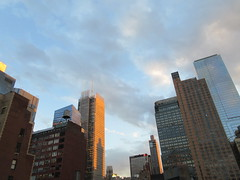 2019 March Evening Sky NYC 4276 (Brechtbug) Tags: 2019 march evening sky nyc virtual clock tower from hells kitchen clinton near times square broadway new york city midtown manhattan 03182019 stormy weather building no hanging cumulonimbus blue cumulus nimbus cloud fall hell s nemo southern view