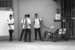 Students (Beegee49) Tags: street people students college tricycle black white monochrome bw sony a6000 bacolod city philippines asia happyplanet asiafavorites