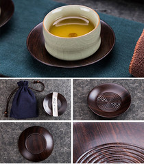 Tea Cup Mat  made from Ebony / Bamboo (John@Kingtea) Tags: tea cup mat made from ebony bamboo teawares teatools teasets gongfuteawares chinesegongfuteawares