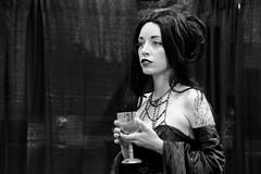 The Fateful Potion (B&W) (emerge13) Tags: québecquébec studiolive studio models portrait women steampunk gothic goth woman model blackandwhite bw blancoynegro retrato ritrato saariysqualitypictures