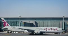 Qatar airways Boeing 777-300er A7-BAZ Doha Hamad airport (Michele Centurelli) Tags: nikon d7200 18105 qatar airways a7baz boeing 777 777300er doha hamad airport apron terminal lightroom