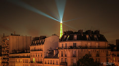 Le Géant de Fer (Through_Urizen) Tags: architecture category eiffeltower france hotelbaldi nightscenes paris places canon550d canon1585mm canon night nighttime architecturephotography street buildings houses apartments city cityscape tower lightsatnight composite darkness french metal iron residence capitalcity