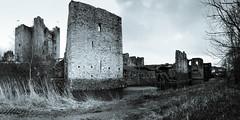 B&W Panoramic view of Trim Castle - Trim County Meath Ireland (mbell1975) Tags: trim countymeath ireland ie bw panoramic view castle county meath pano panorama vista éire eire airlann poblacht na héireann irland irlanda irlande irish burg festung fort fortress castillo kasteel borg château citadelle citadel castelo fortaleza zamek kale caisleán bhaile atha troim norman ruin ruins medieval