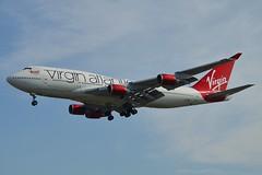 """""""Tinker Belle"""" Virgin Atlantic Airways G-VBIG Boeing 747-4Q8 cn/26255-1081 @ EGKK / LGW 28-05-2018 (Nabil Molinari Photography) Tags: tinkerbelle virgin atlantic airways gvbig boeing 7474q8 cn262551081 egkk lgw 28052018"""