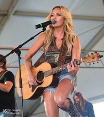 Meghan Patrick @ Watershed 2018 (Kirk Stauffer) Tags: kirk stauffer photographer nikon d5 adorable amazing attractive awesome beautiful beauty charming cute darling fabulous feminine glamour glamorous goddess gorgeous lovable lovely perfect petite precious pretty siren stunning sweet wonderful young female girl lady woman women live music tour concert show gig song singer performer musician band group lights lighting indie country long blonde hair blue eyes white teeth red lips abs stomach legs model tall fashion shorts boots portrait smile tattoos playing guitar