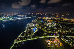Lights of Singapore (Rafael Zenon Wagner) Tags: nacht singapur lichter show nikon d810 laowa12mmf28zerod viewingplatform night singapore lights 12mm ultraweitwinkel uww wasser water himmel sky wolken clouds