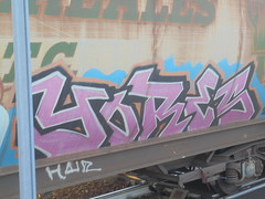 973 (en-ri) Tags: yores rosa nero train torino graffiti writing treno merci freight transcereales