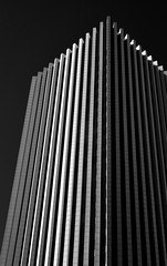The Metropolitan II (infrared) (dr_marvel) Tags: ir infrared black sky clear rochester ny newyork themetropolitan building skyscraper architecture