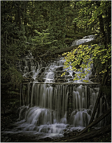 Wagner Falls by Fred Drury - HM Class A Print - January 2019
