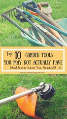 """Which garden tools are you missing from your tool collection? In Spoken Garden's """"Top 10 Garden Tools"""" post we've identified the 10 most useful tools every gardener should own! From power tools to hand tools our tool list is full of suggestions and gift r (CoolHomeStyling) Tags: home decor design styling interior"""