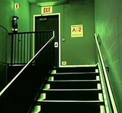 2/90 GloSign (2/90 Sign Systems) Tags: 290 sign signs signage systems wayfinding facility modular 290signsolutions glo glow dark glosign regulatory life saving photoluminescent emergency evacuation glotape safety lighting green