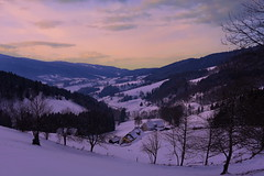 Col des Bagenelles (Vosges, F) (pietro68bleu) Tags: france vosges europe mountain montagne vue view village lanscape winter hiver tree snow neige ciel sky nature