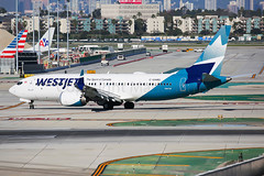 WestJet Boeing 737-8 MAX (Mark Harris photography) Tags: spotting lax la canon 5d boeing max 737 plane