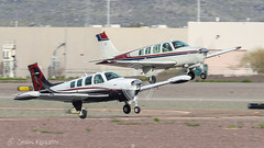 Beech A36 Bonanzas N6GF N1697W (ChrisK48) Tags: kdvt beecha36 phoenixaz n1697w airplane n6gf b2osh bonanzastooshkosh 1991 beechcraft aircraft bonanza dvt 1972 phoenixdeervalleyairport
